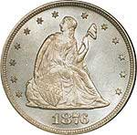 Seated Liberty 20 cent coin