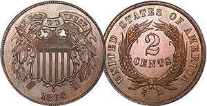 Two Cent Coin from 1864