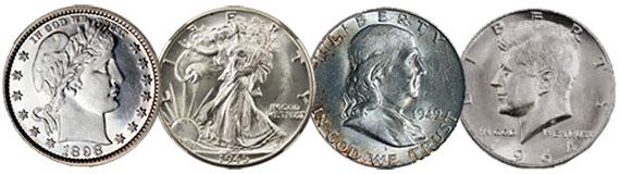Half Silver Dollar Coins