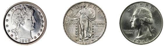 Junk quarters coins